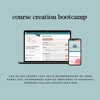 course creation bootcamp krista dickson