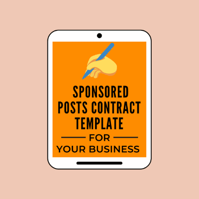 sponsored posts contract